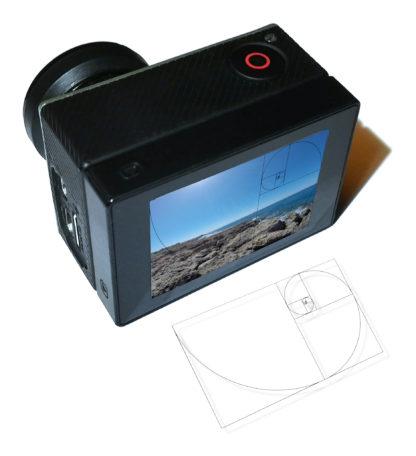 Goldener Schnitt - Displayfolie für GoPro Hero 4, 5, 6, 7 für perfekte Fotos 1
