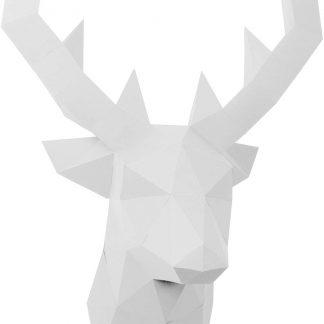 PaperShape Hirsch 3D-Papier-Tier-Safari Ohne kleben, Ausgeschnitten und vorgefalzt. Wandtrophäe als Deko aus FSC-Papier