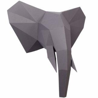 PaperShape 3D Elefant Ausgeschnitten, vorgefalzt und Ohne kleben