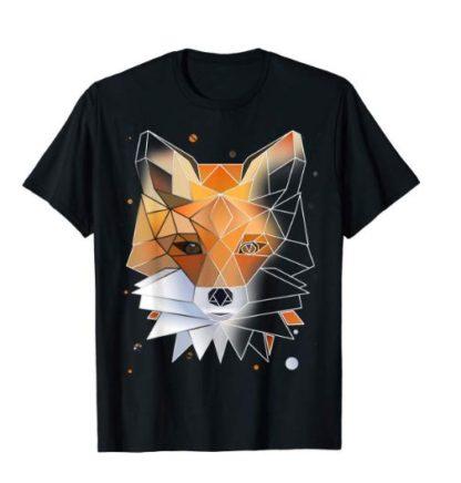 Fuchs T-Shirt Polygon Geometrisch Wild-Tier