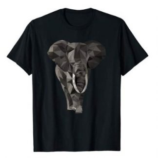 Elefant T-Shirt - Low Poly Elefant