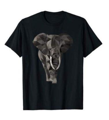 Elefant T-Shirt - Low Poly Elefant