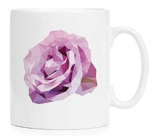 Low Poly Rose in Purple