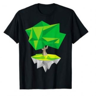 Einsamer Baum - Low Poly Vektor Grafik T-Shirt