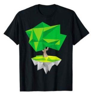 Einsamer Baum - Low Poly Vektor Grafik T-Shirt