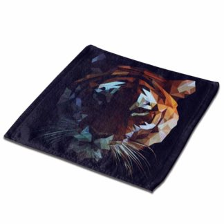 Yxungdiy Premium Square Bath Towels 1Pcs Low Poly Tiger Soft Plush Highly Absorbent for Camping Beach Yoga Or Bath