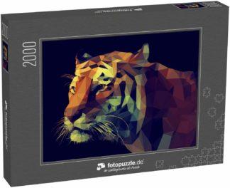 Puzzle 2000 Teile Low-Poly-Design. Tiger-Illustration - Klassische Puzzle, 1000 / 200 / 2000 Teile, edle Motiv-Schachtel, Fotopuzzle-Kollektion 'Kunst'